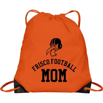 Frisco Football Mom Port & Company Drawstring Cinch Bag