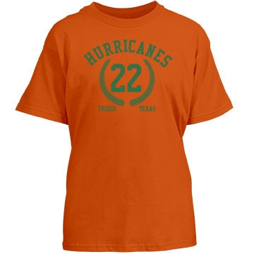 Frisco Hurricanes Youth Gildan Heavy Cotton Crew Neck Tee