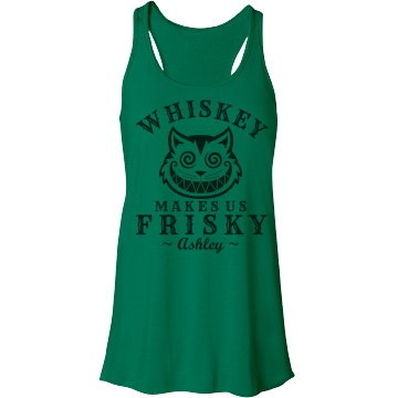 Frisky Whiskey Girl 1 Bella Flowy Lightweight Racerback Tank Top
