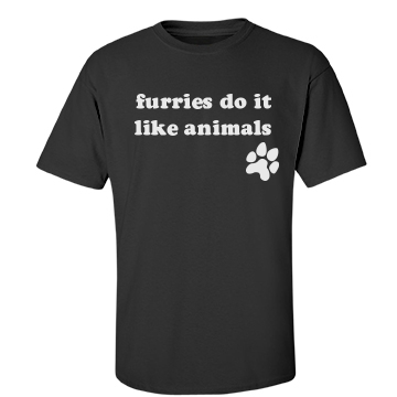 Furries-mens Unisex Gildan Heavy Cotton Crew Neck Tee