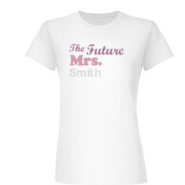 Future Mrs. Rhinestone Junior Fit Basic Bella Favorite Tee