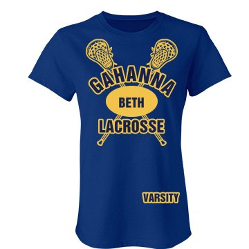 Gahanna Lacrosse Varsity Junior Fit Bella Favorite Tee