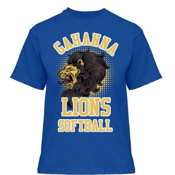 Gahanna Lions Softball Misses Relaxed Fit Gildan Heavy Cotton Tee