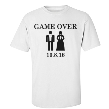 Game Over Groom Unisex Basic Gildan He