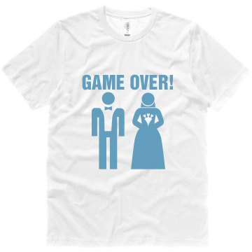 Game Over Wedding Unisex Canvas Jersey Tee