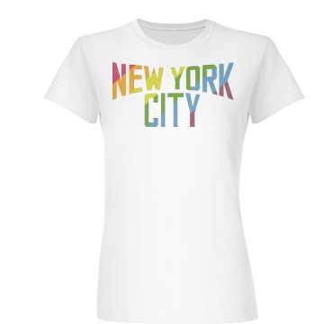 Gay Friendly New York Junior Fit Basic Bella Favorite Tee