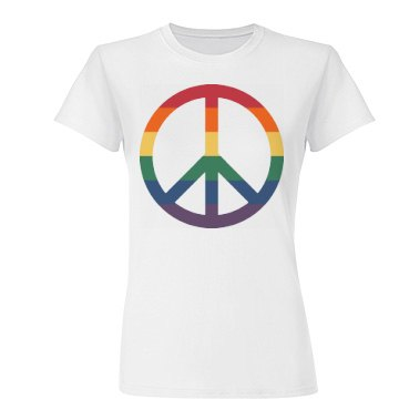 Gay Pride Peace Symbol