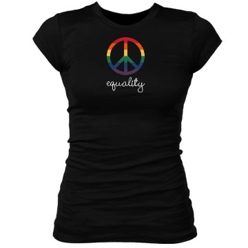 Gay Rights Equality Junior Fit Bella Sheer Longer Length Rib Tee