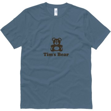 Gay Rights Tim's Bear Unisex Canvas Jersey Tee
