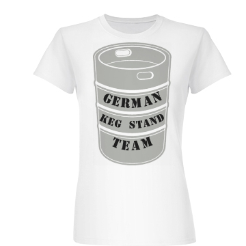 German  Keg Stand Team Junior Fit Basic Bella Favorite Tee