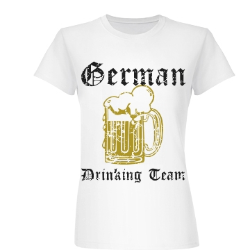German Drinking Team Junior Fit Basic Bella Favorite Tee