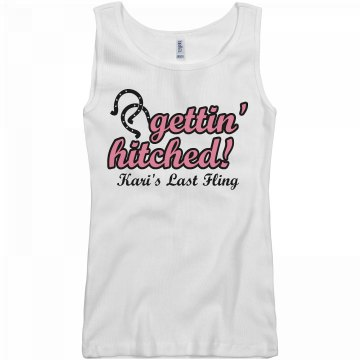 Gettin' Hitched Junior Fit Basic Bella 2x1 Rib Tank Top