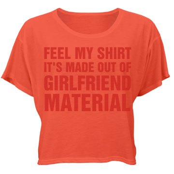 GF Material Orange Bella Flowy Boxy Lightweight Crop Top Tee
