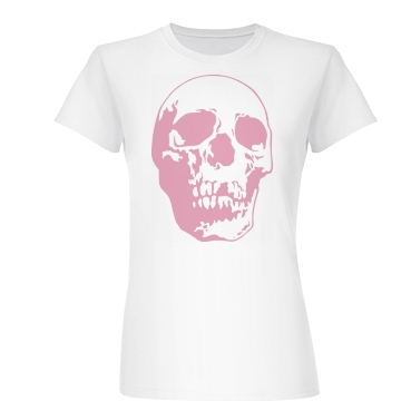 Giant Pink Skull Junior Fit Basic Bella Favorite Tee