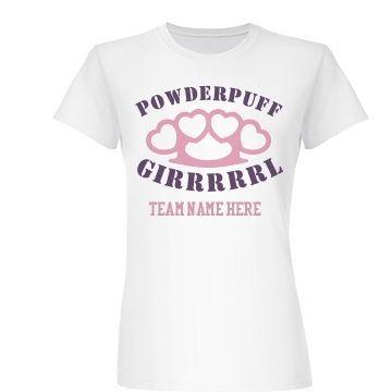 Girl Powderpuff Knuckles Junior Fit Basic Bella Favorite Tee