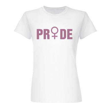 Girl Pride Symbol Junior Fit Basic Bella Favorite Tee