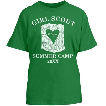 Girls Scout Summer Camp Youth Gildan Heavy Cotton Crew Neck Tee