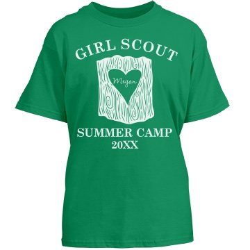 Girls Scout Summer Camp Youth Port & Company Essential Tee