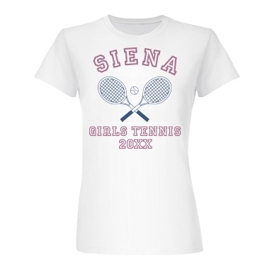 Girls Tennis Tee Junior Fit Basic Bella Favorite Tee
