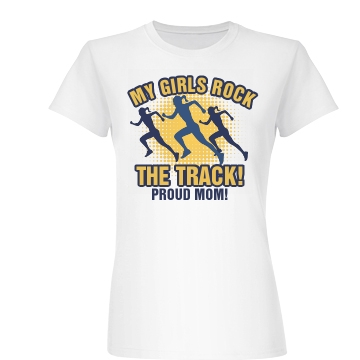 Girls Track and Field Junior Fit Basic Bella Favorite Tee