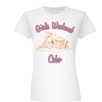 Girls Weekend Tee Junior Fit Basic Bella Favorite Tee
