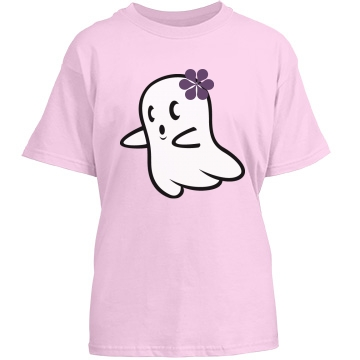 Girly Ghost Youth Gildan Heavy Cotton Crew Neck Tee