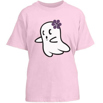 Girly Ghost Youth Port & Company Essential Tee