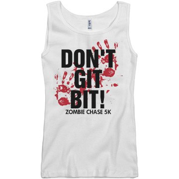 Git Bit Zombie Chase 5K Junior Fit Basic Bella 2x1 Rib Tank Top