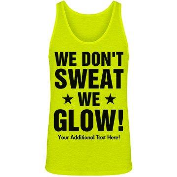 Glow Run 5K Neon Custom Text