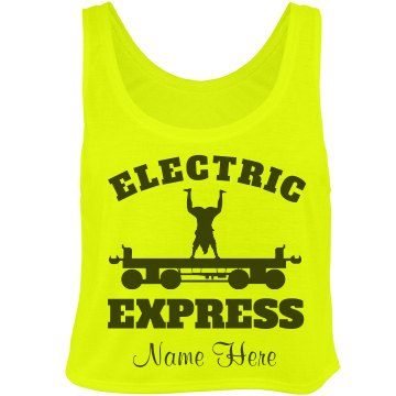 Glow Run Express Girl 2 Bella Flowy Boxy Lightweight Crop Top Tank Top