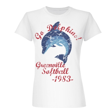 Go Dolphins - 1983 Junior Fit Basic Bella Favorite Tee