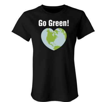 Go Green Heart Tee Junior Fit Bella Favorite Tee