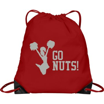 Go Nuts Cheer Bag Port & Company Drawstring Cinch Bag