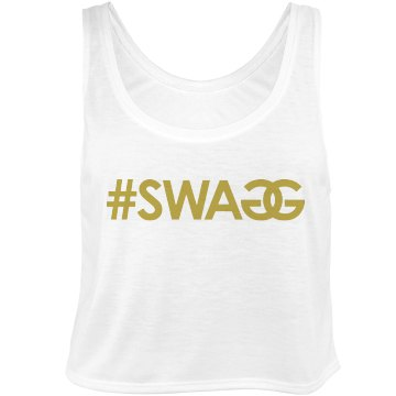 Gold Swag Bella Flowy Boxy Lightweight Crop Top Tank Top