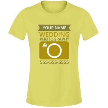 Gold Wedding Photography Misses Relaxed Fit Anvil Lightweight Fashion Tee