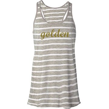 Golden Stripe Bella Flowy Lightweight Racerback Tank Top