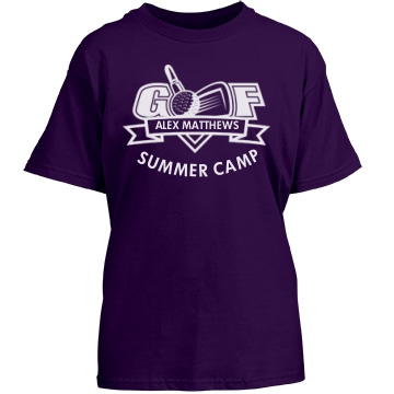 Golf Summer Camp Youth Gildan Heavy Cotton Crew Neck Tee