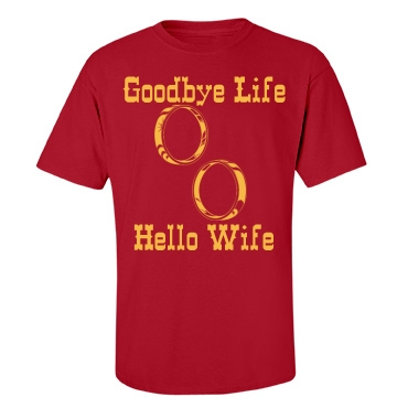 Goodbye Life Rings Unisex Port & Company Essential Tee