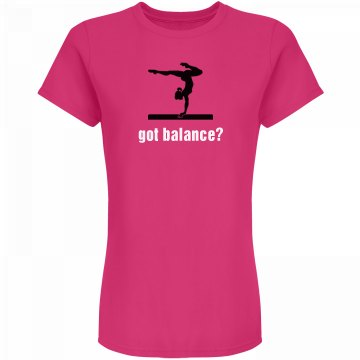 Got Balance? Junior Fit American Apparel Fine Jersey Tee