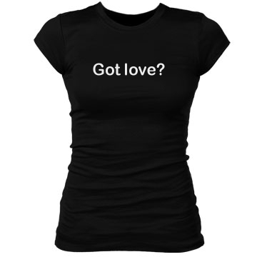Got Love w/ Back Junior Fit Bella Sheer Longer Length Rib Tee