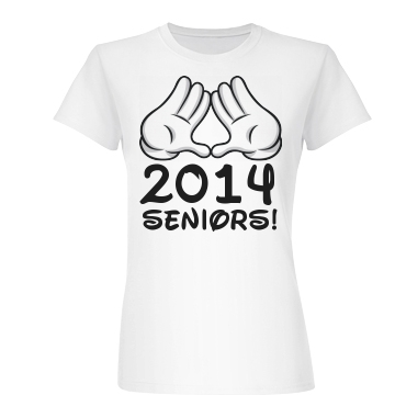 Graduating Senior Gloves Junior Fit Basic Bella Favorite Tee