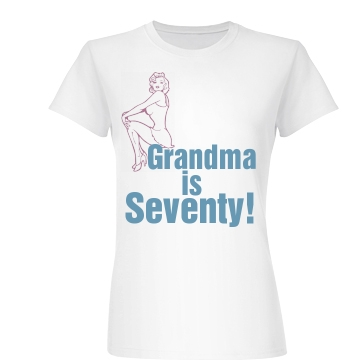 Grandma Is Seventy! Junior Fit Basic Bella Favorite Tee