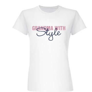 Grandma With Style Junior Fit Basic Bella Favorite Tee