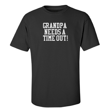 Grandpa Time Out Unisex Gildan Heavy Cotton Crew Neck Tee