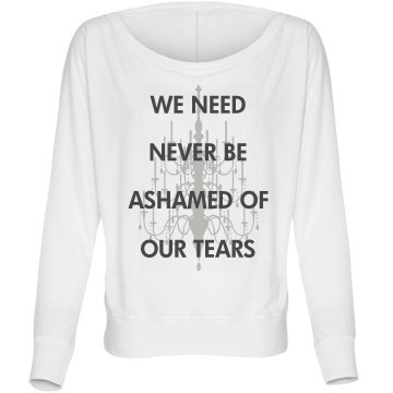 Great Expectations Tears Bella Flowy Lightweight Long Sleeve Dolman Tee
