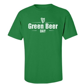 Green Beer Logo Unisex Gildan Heavy Cotton Crew Neck Tee