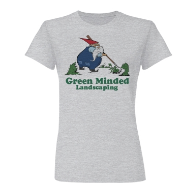 Green Minded Landscaping Junior Fit Basic Bella Favorite Tee