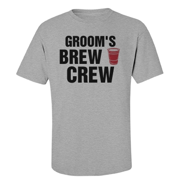Groom's Brew Crew Unisex Basic Port & Company Essential Tee