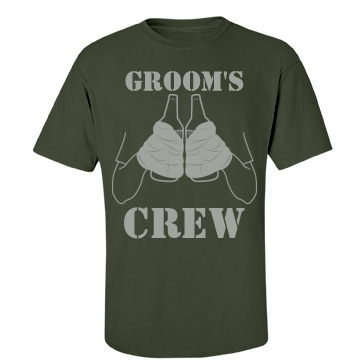 Groom's Crew 40 Hands Unisex Port & Company Essential Tee