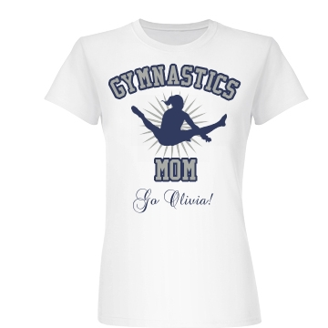 Gymnastics Mom Junior Fit Basic Bella Favorite Tee
